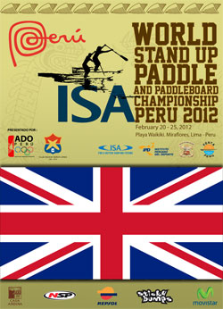 ISA World Stand Up Paddle Championships Peru (Team Britain)