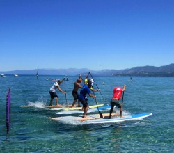 The epic SUP Cross race // photo © Tahoe's Alive