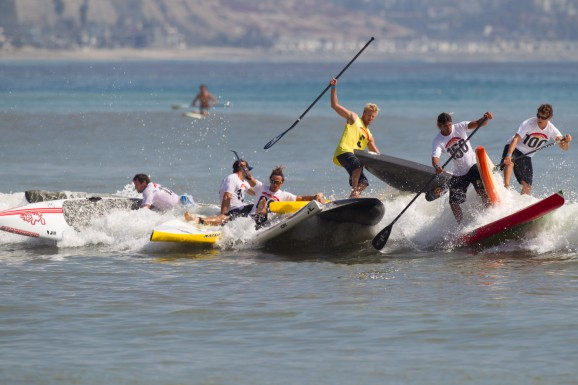 Battle of The Paddle buoy turns... chaos!