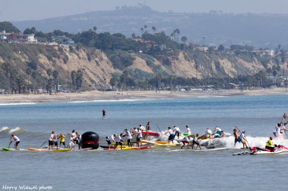 Battle of the Paddle SUP race chaos