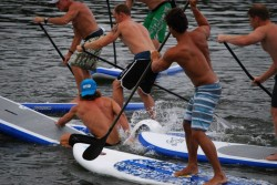 The chaotic Chuck Patterson Rally SUP race // pic © Mark Bandy