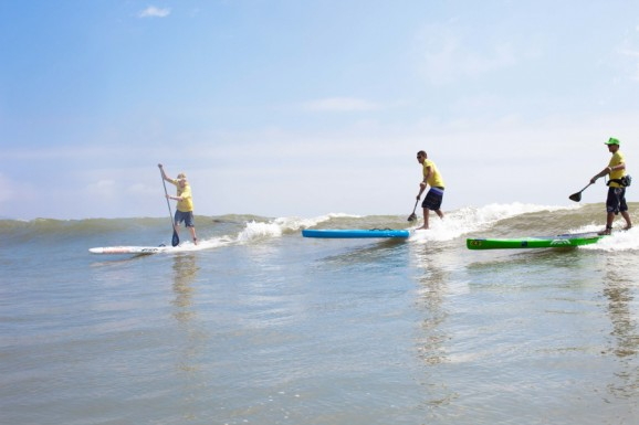 Connor Baxter, Jamie Mitchell and Danny Ching at the Battle of the Paddle