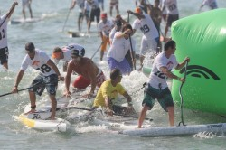 Chuck Patterson always looks at SUP racing from a different perspective...