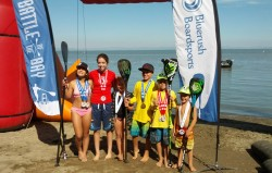 The winners of the Battle of the Bay Kids Race