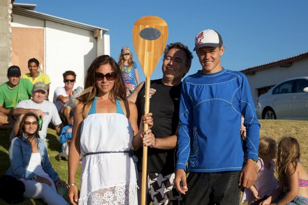 Langebaan Dash SUP race - Brigette van Aswegen and Dylan Frick