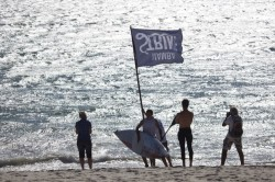 Langebaan Dash SUP race winner Dylan Frick