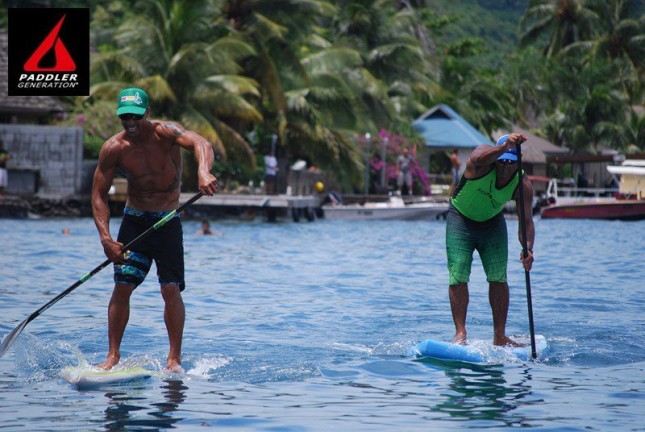 SUP Racing in Tahiti - Taaroa Race (2)