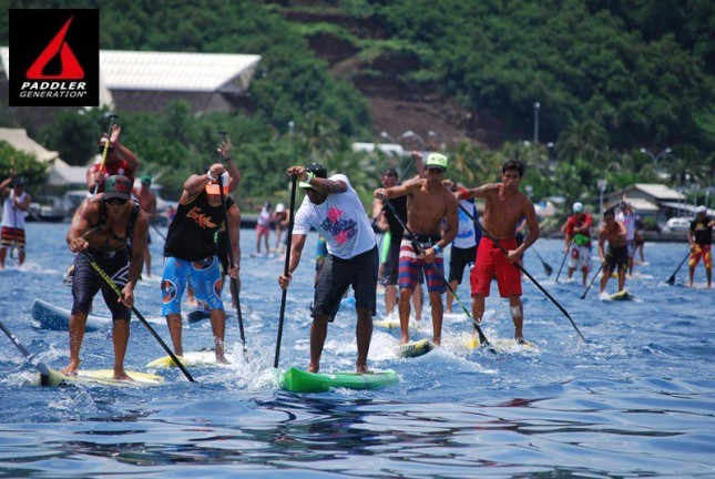 SUP Racing in Tahiti - Taaroa Race (4)