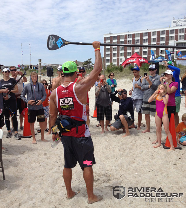 Danny Ching wins the Carolina Cup SUP race