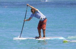 Jamie Michell racing Stand Up Paddleboards