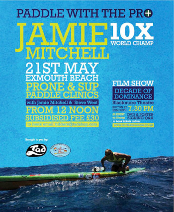 Jamie Mitchell Stand Up Paddle clinics