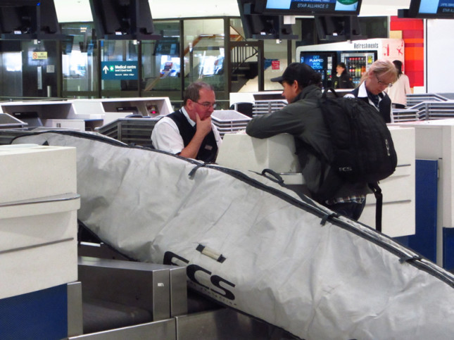 Trav's Trippin' with his oversized luggage...