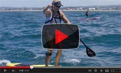 Video Karla Gilbert Stand Up Paddle boarder