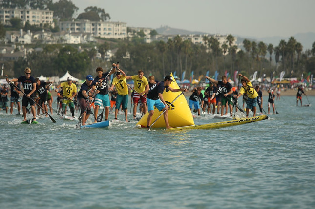Battle of the Paddle buoy turn