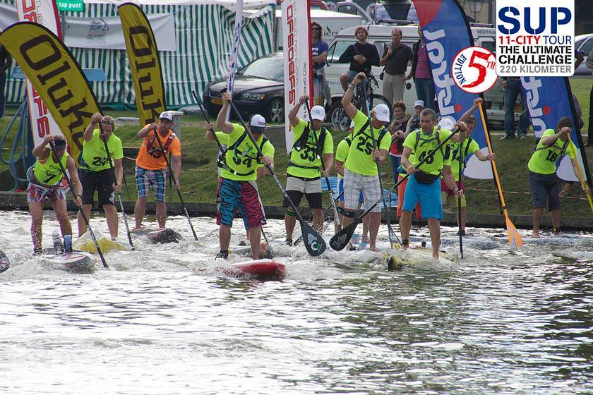 Inflatable SUP racing