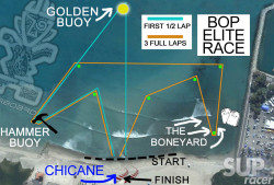 The Battle of the Paddle Elite Race course map