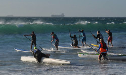Downwind Dash Stand Up paddle race South Africa