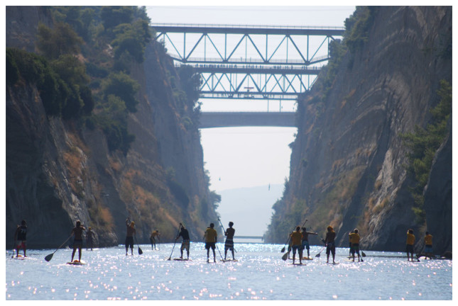Stand Up Paddle race Corinth Canal