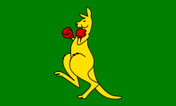Boxing Kangaroo flag