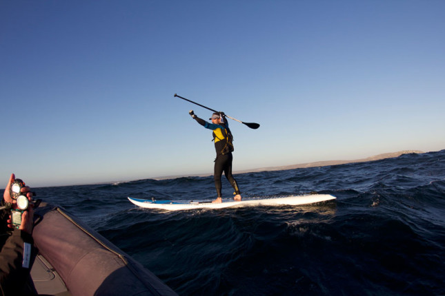 Chris Bertish world record paddle