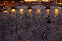 Stand Up Paddle race in Paris