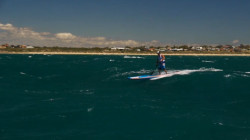 Stand Up Paddling downwind