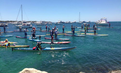 The Doctor stand up paddle race
