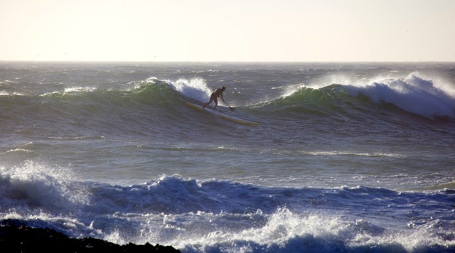 Glen Thompson at Small Bay (photo by Maleen Hoekstra)