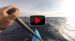 Video Stand Up Paddleboard downwinder in Japan