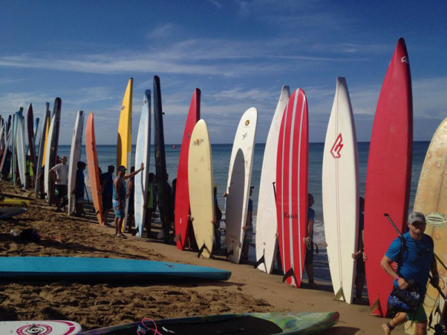 Rincon Beachboy Stand Up Paddleboard race