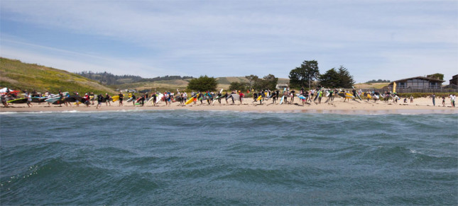 Ghostryders Davenport Downwind SUP race Santa Cruz