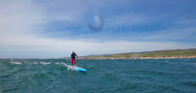 Jamie Mitchell downwind stand up paddling