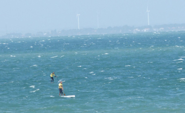 stand up paddle downwind run