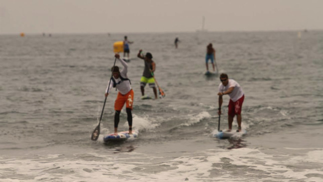 Santa Monica Pier SUP Race 1