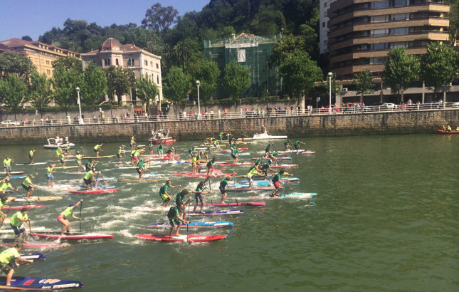 World SUP Challenge race Bilbao Spain