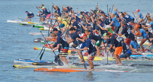Battle of the Paddle Elite Race start