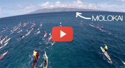 Maui to Molokai M2M SUP race video