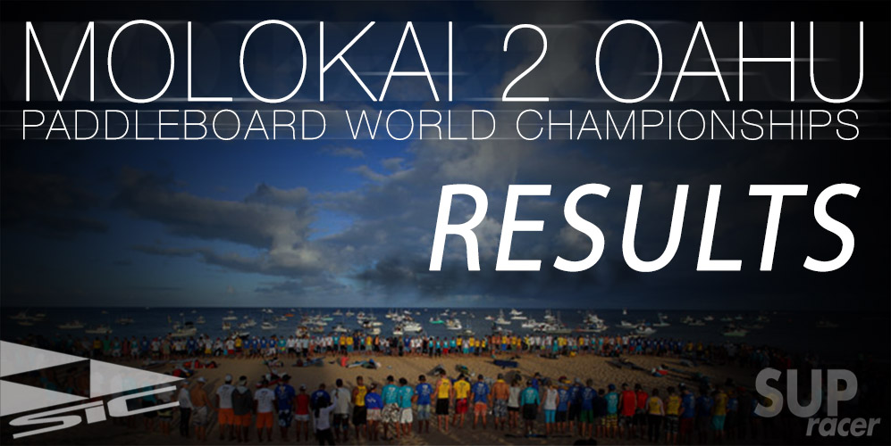 Molokai 2 Oahu SUP race results