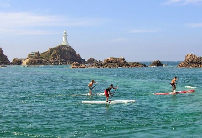Stand up Paddling on Jersey island