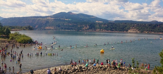 Gorge Paddle Challenge elite stand up paddle race