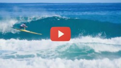 Noa Ginella surfing stand up paddle race board