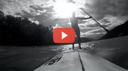 hood river gorge downwind stand up paddle video
