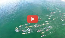 Battle of the Paddle drone video