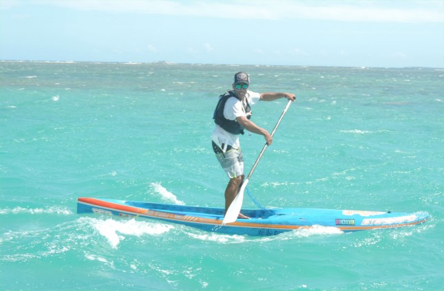 SUP downwinder in New Caledonia