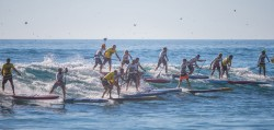 Stand up paddling race boards