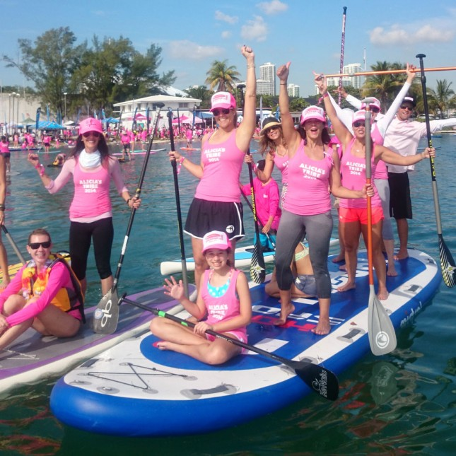 Stand Up For The Cure stand up paddle event Miami