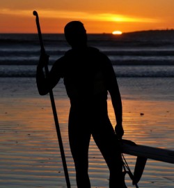 Stand Up Paddle sunset