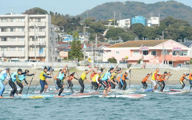 Stand Up Paddleboard race in Japan
