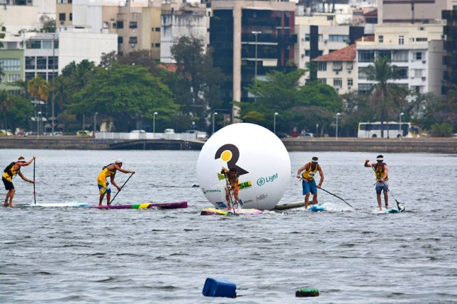 Stand up paddleboarding in Rio de Janeiro