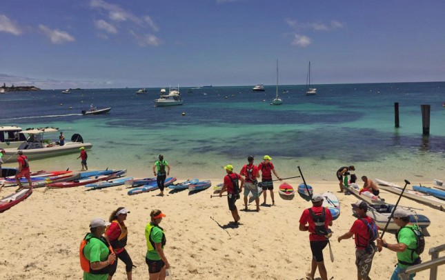 The Doctor downwind stand up paddle race